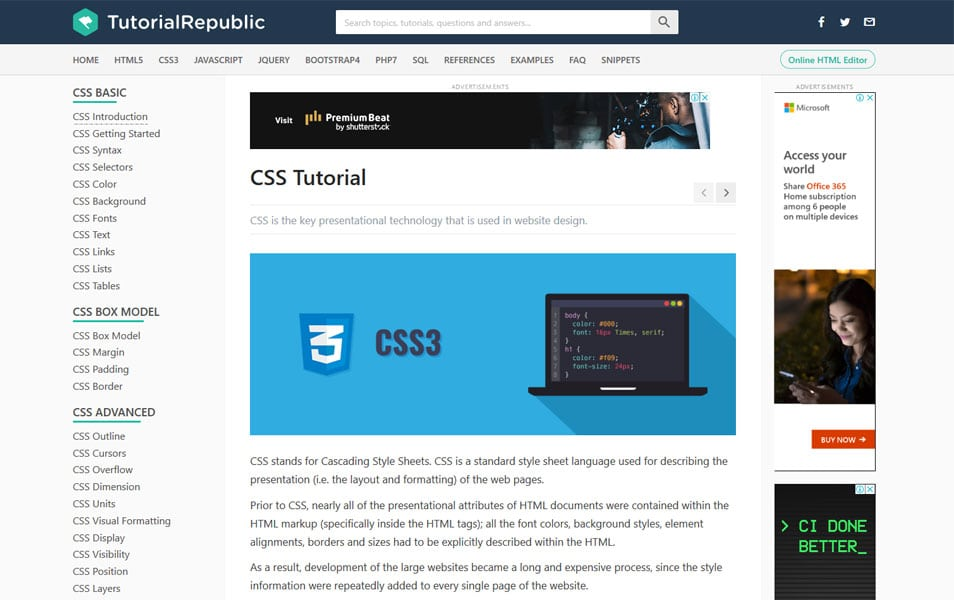 25+ Best Collection Of CSS Tutorial Websites » CSS Author