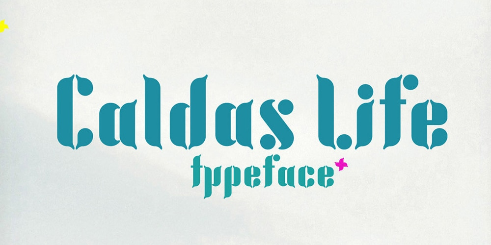 Caldas Life Display Font