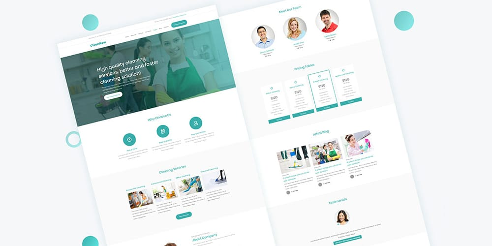 CleanNow Web Template