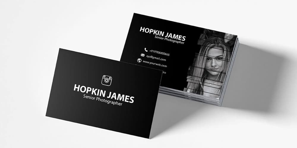 Corporate Photography Business Card PSD