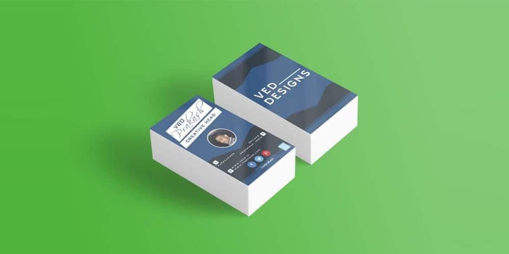 Flat Business Card Mockup