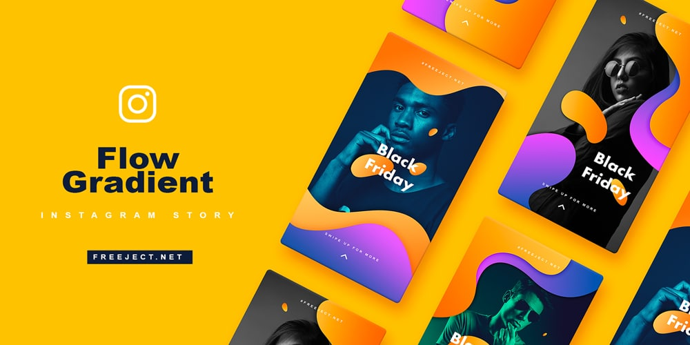 Flow Gradient Instagram Story Template​​​​​​​