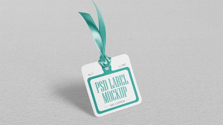 Free Cloth Tag Mockup PSD