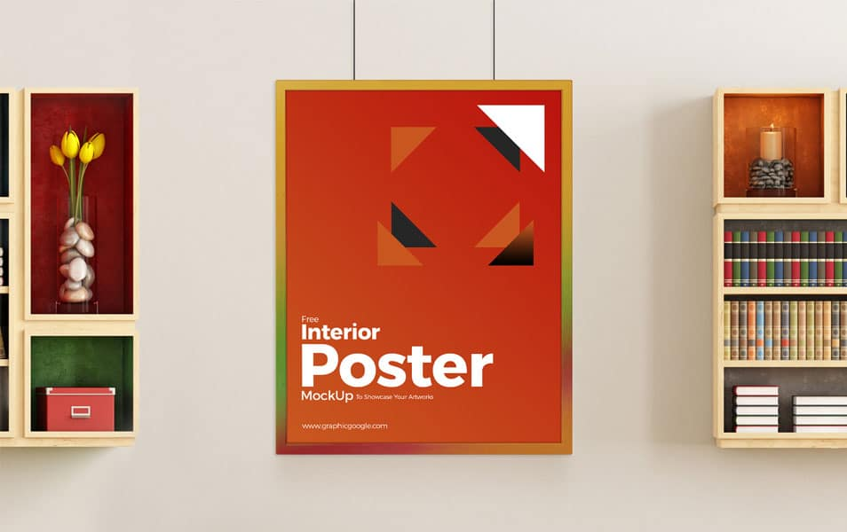 Free Interior Poster Mockup To Showcase Your Artworks