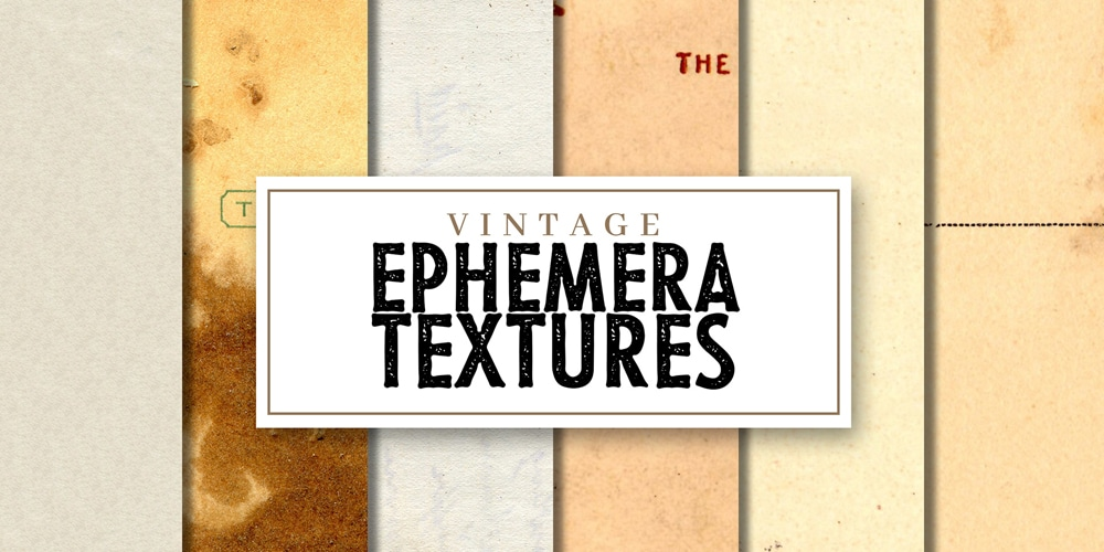 Free Vintage Ephemera and Paper Textures