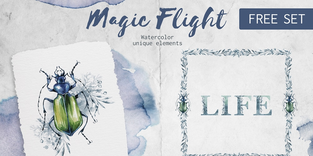 Free watercolor elements