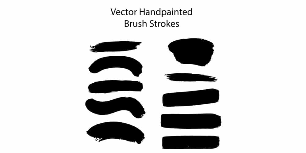 Hand Painted Brush Strokes