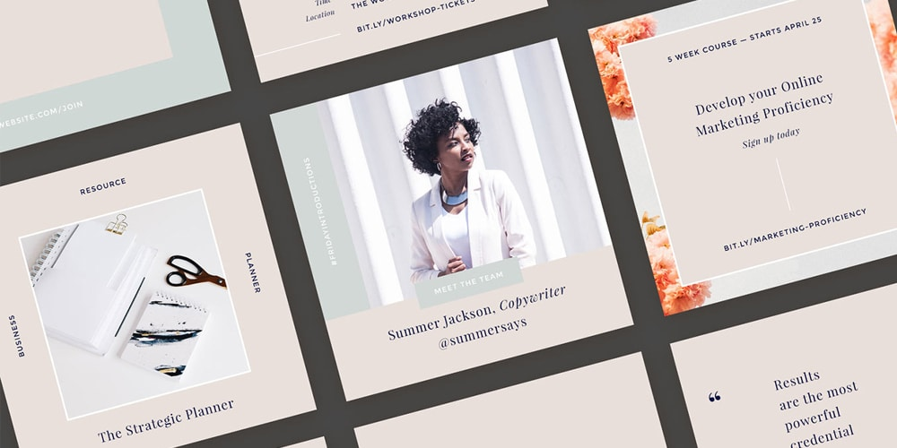 Hepburn Instagram Templates Kit