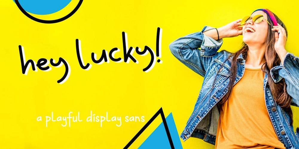 Hey-Lucky-Display-Font