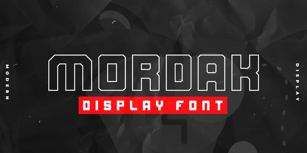 Mordak Display Block Font