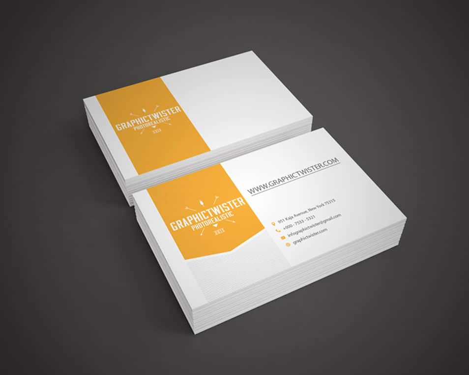 Photorealistic Business Card Mock-up Template