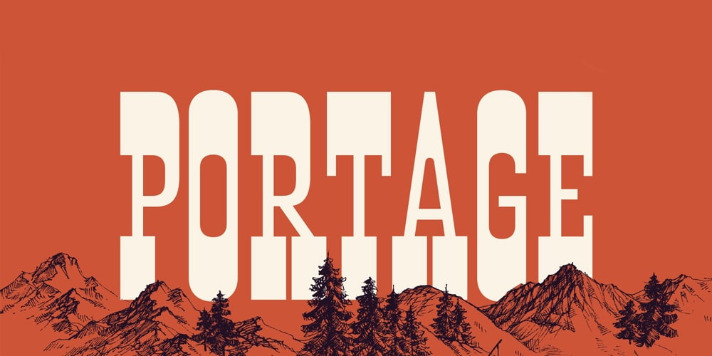 Portage Display Font