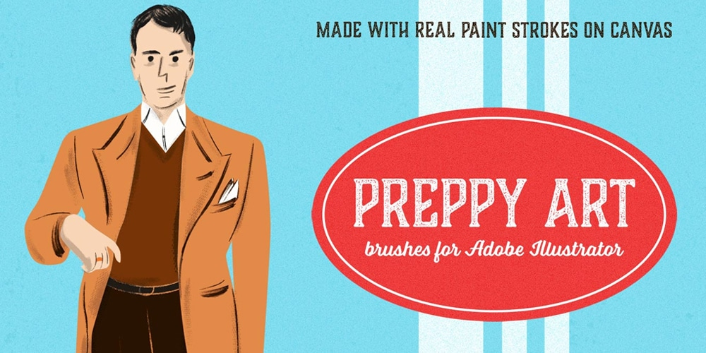 Preppy Art Illustrator Brushes Kit