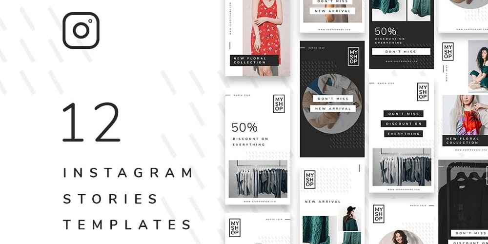 instagram layout psd + best instagram templates to gain more followers