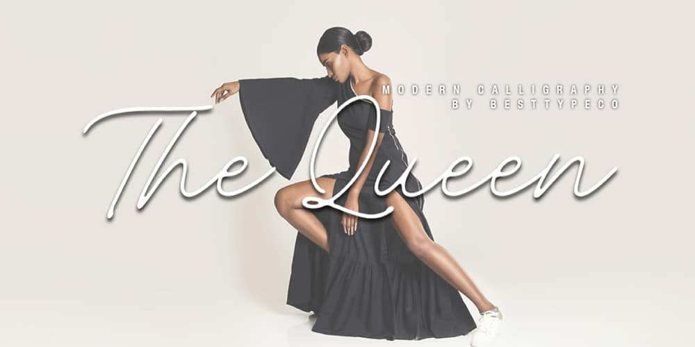 The Queen Handmade Calligraphy Font