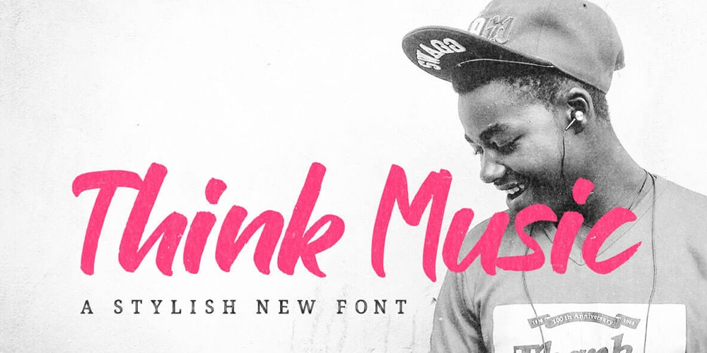 Think Music Brush Font