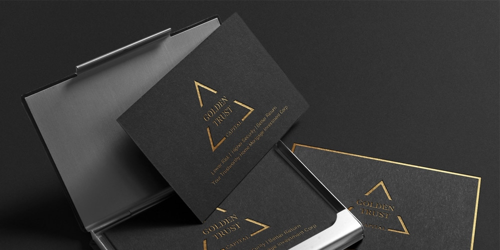 Business Card Mockup Royal Edition