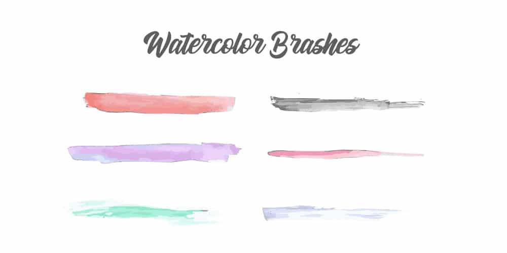 Free Watercolor Brushes for Adobe Illustrator
