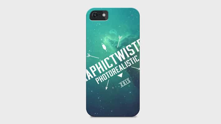 iPhone 5 Cover PSD Mockup