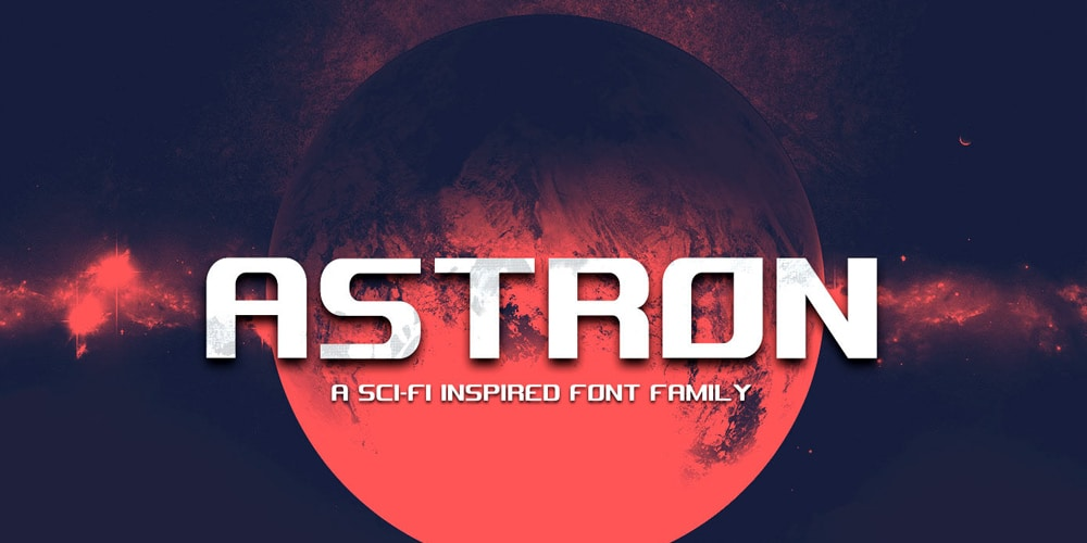 Astron Sci Fi Display Font