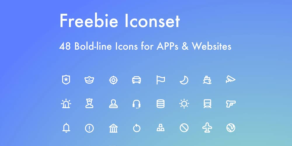 Bold Line Icons for Apps and Websites