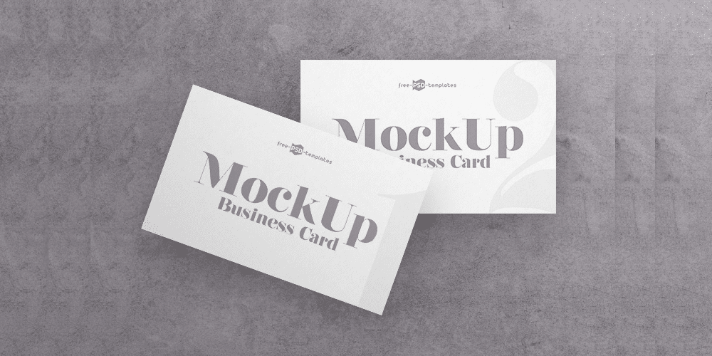 Business Card V04 Mockup PSD