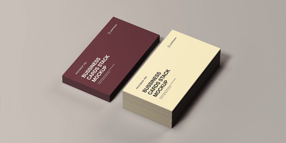 Business Cards Stack Mockup