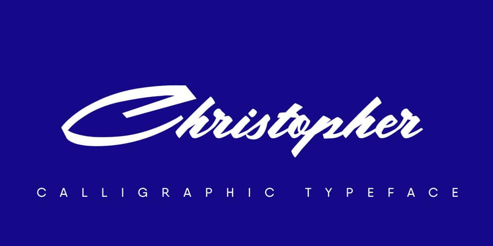 Christopher Calligraphic Typeface