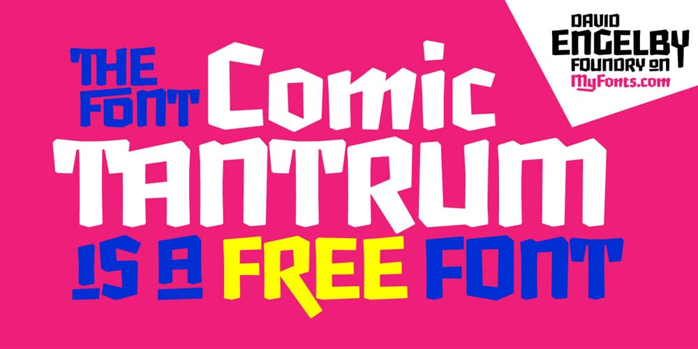 Comic Tantrum Display Font