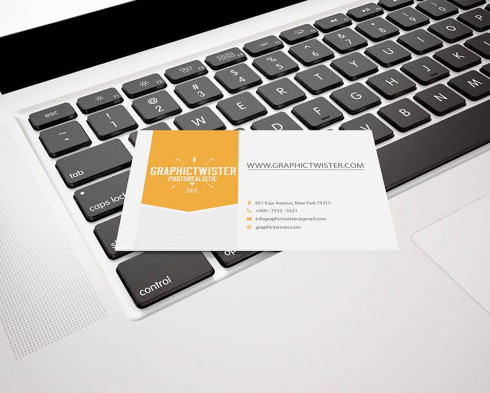 Fantastic Single Business Card Mockup