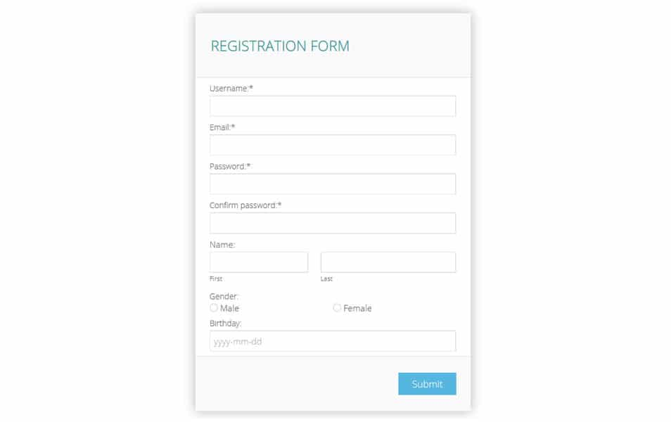 Formoid Bootstrap Form Builder