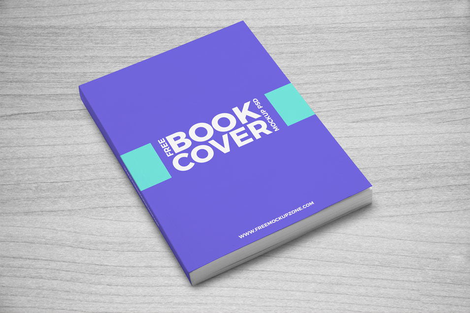 Free Book Cover Mockup PSD