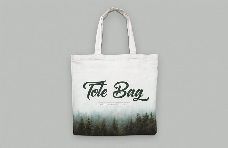 Free Canvas Tote Bag Mockups PSD