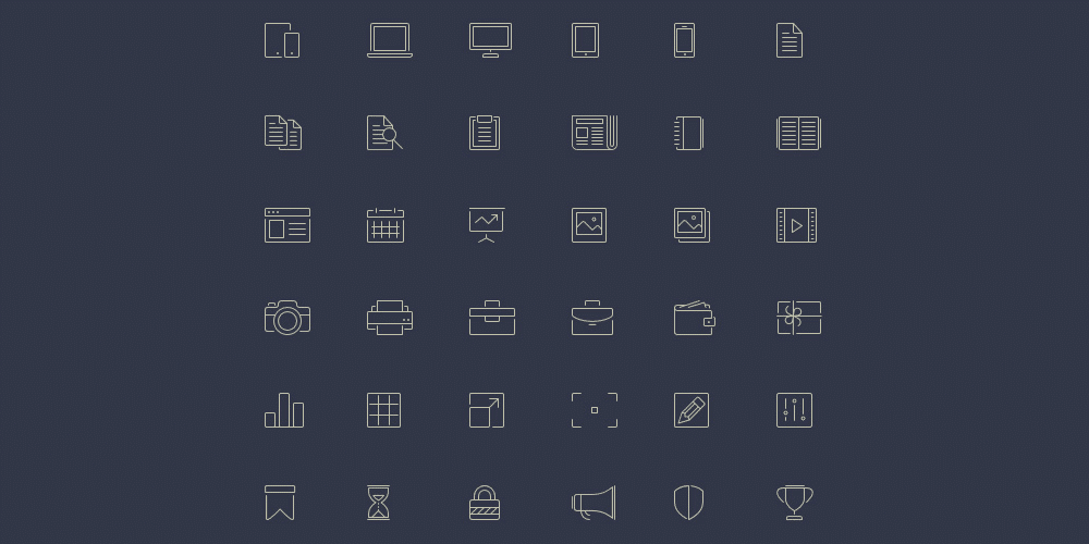 Free Line-Style Icons