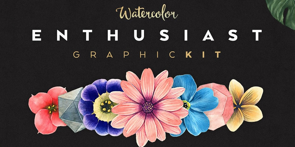 Free Watercolor Flowers Collection