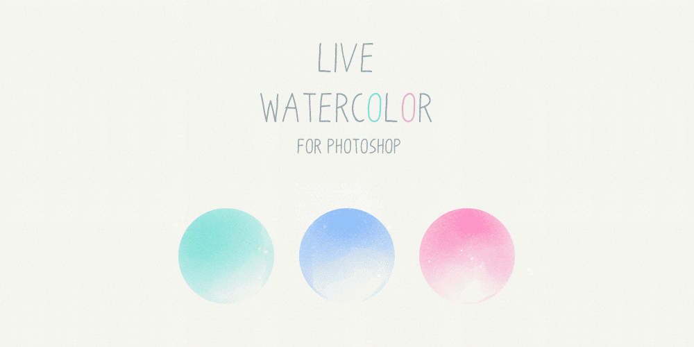 Live Watercolor Photoshop Brushes
