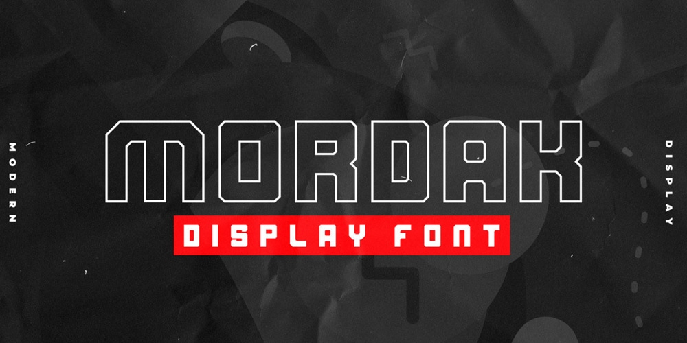Mordak Geometric Display Font