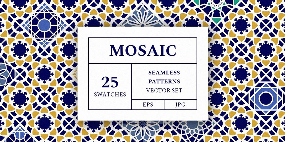 Mosaic Patterns Vector