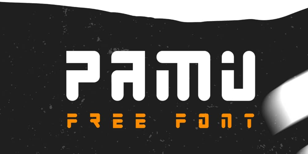 Pamu futuristic display font