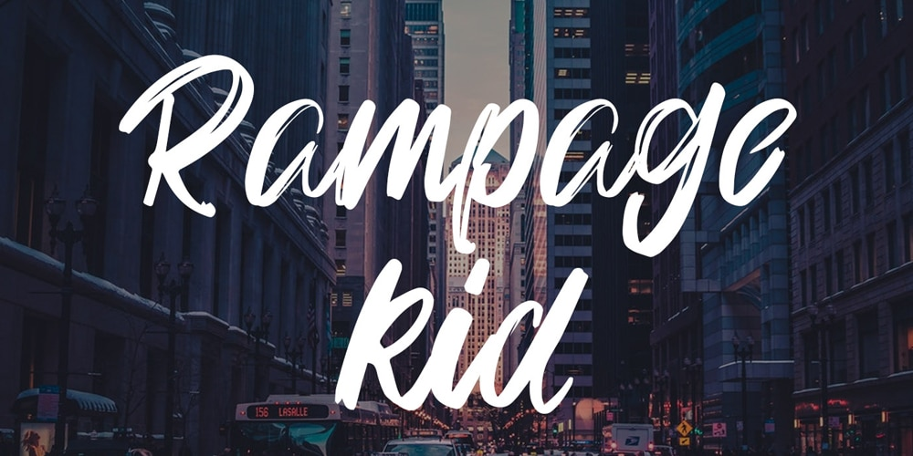 Rampage Kid Brush Font