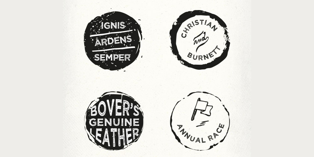 Rounded Rough Badges
