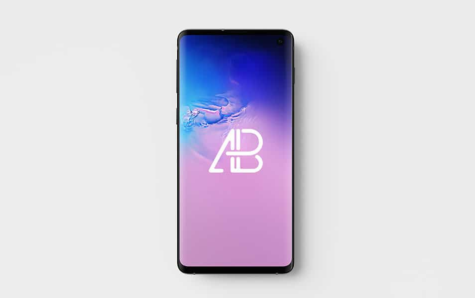 Samsung Galaxy S10 Top View Mockup