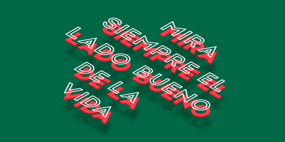 Spanish 3D Text Effect