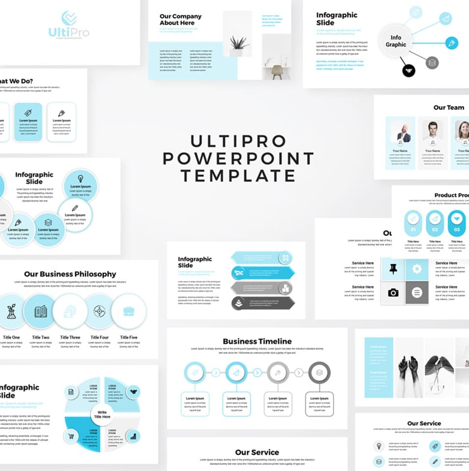 UltiPro – Business Infographic PowerPoint Template