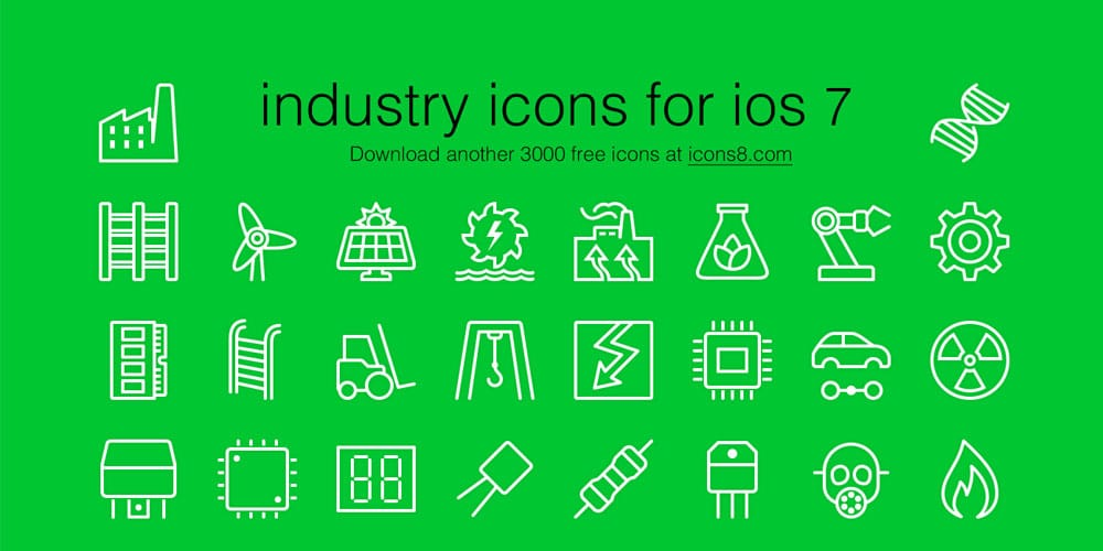 iOS7-Style Industrial Icons