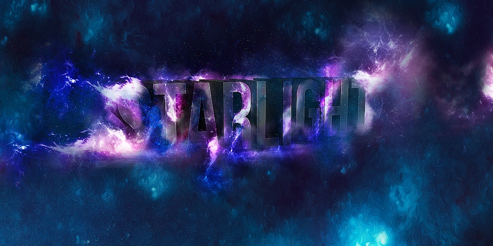 3D Star Light Text Effect in Photoshop