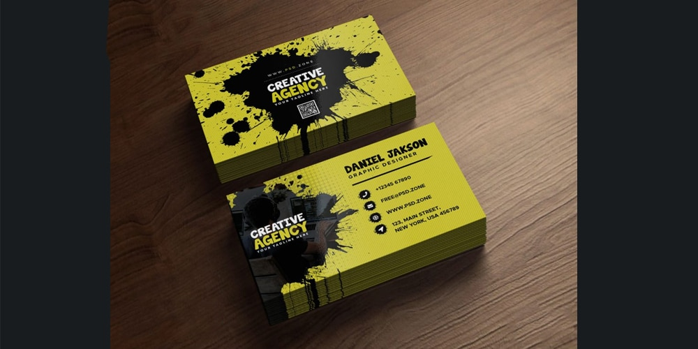 Agency Business Card PSD