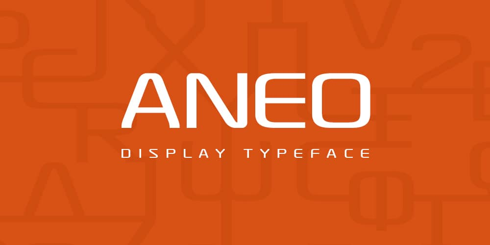 Aneo DIsplay Typeface