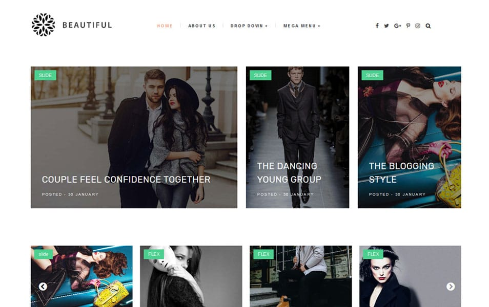 Beautiful Responsive Blogger Template