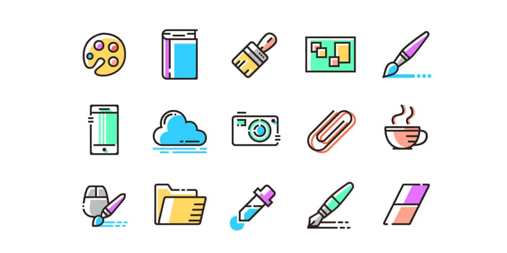 Colored Line Icons
